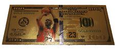 Michael Jordan American $100 Gold Banknote Chicago Bulls Collectible Money Card