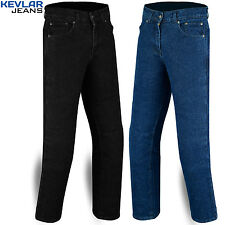"Mens Motorcycle Stretch Jeans with Protective Kevlar Lining size 30"" to 42"""