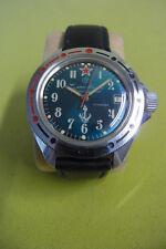 Russische Armbanduhr - Vostok  - Militär - Anker - 17 Steine - Datum - Uhr läuft