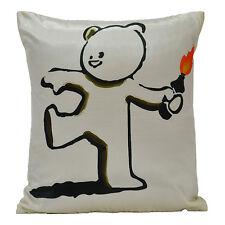 Banksy Bear Grenade Bomb Molotov Graffiti Artist Cushion Pillow Cover Case Decor