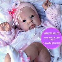 Reborn Crystal baby doll kit unpainted W/  FREE GIFT so cute and soft vinyl