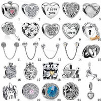 Fashion European 925 Sterling Silver Charms Bead For Bracelet Chain Necklace AU1