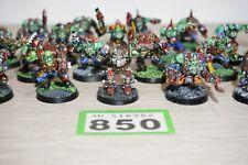 Warhammer 40k Ork Gorkamorka Boyz X 18-parte de metal bien Pintados Lote 850