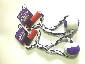 Heavy Duty Large Strong Dog Pull Toy Rope With 1 Chew balls Tug Toy Fetch Puppy
