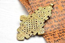 Ethiopian Axum Cross Brass Pendant Ethnic Jewelry
