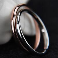 Anello da dito in acciaio al titanio Anello da fidanzamento nuziale da donna  pp