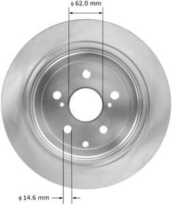Disc Brake Rotor-GAS Rear Bendix PRT6001