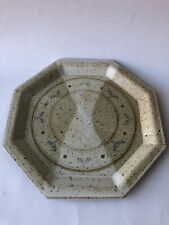 "11"" Primitive Ceramic Slab Octagon Plate Ceramic Pottery"