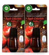 2 Air Wick 0.67 Oz Essential Mist Apple Cinnamon Medley Last To 45 Days Refill