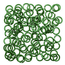 Aluminium Chain Maille 5mm Jump Rings 1.2mm Mint Pack of 100 (P55/7)