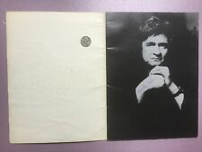 Johnny Cash Concert Tour Program Book from 1975 signed by Mrs. Ray Cash.