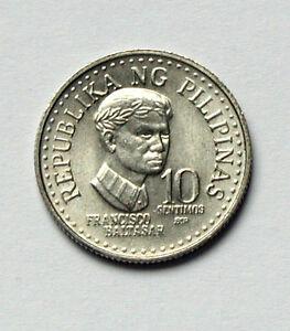 1982 BSP PHILIPPINES Coin - 10 Sentimos - AU+ lustre