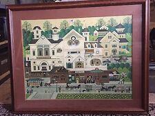Charles Wysocki Derby Square Signed and #ed Framed Print Frame Measures 34 x 42