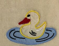 Bambini Yellow plush towel/blanket with duck floaty applique