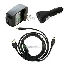 Battery Car+Wall Home AC Charger+USB Cable FOR SONY PSP