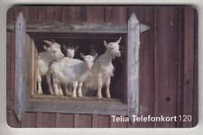 EUROPE  TELECARTE / PHONECARD .. SUEDE 120MK SO3 CHEVRE GOAT 07/96 CHIP/PUCE