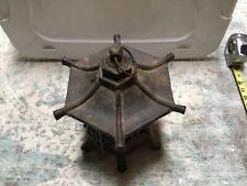 Vintage Cast Iron Pagoda Hanging Lantern Japanese Asian 6 Sided Garden
