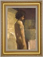 "Hand-painted Original Oil painting art Portrait male nude boy on Canvas 24""X36"""