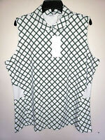 Womens Lady Hagen Sleeveless Shirt Polo Golf Top Green Grass New NWT Size 2XL