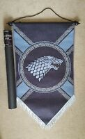 """NEW GENUINE Game of Thrones Stark Felt Flag Banner - 23x39"""""""