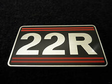 NEW OEM Toyota Truck 22R Valve Sticker / Decal