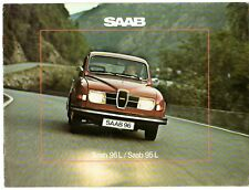 Saab 96 L Saloon & 95 L Estate V4 1975-76 Danish Market Sales Brochure FAIR