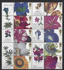 GREAT BRITAIN 2003 FLOWER PAINTINGS SET OF 10 IN LITHO FINE USED