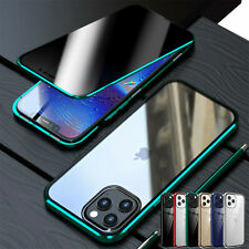 For iPhone 12 11 Pro XS Max XR 78+ Anti-Spy Magnetic Glass 360°Full Case Cover