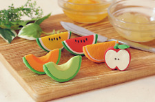 Japan Iwako 6 Fruits Half Apple, Watermelon, Orange etc Puzzle Rubber Eraser Set