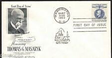 #1147 4c ~ FDC ~ Fleetwood Cachet~ Thomas G Masaryk ~ no address