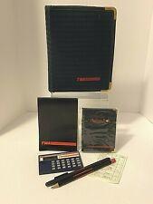VTG TWA Trans World Airlines Kit Case Zipper Portfolio w/ Accessories Calculator