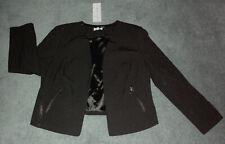 Autograph: Plus Size: 14-16. Modern Stylish BLACK, Open-Front Fully Lined Jacket