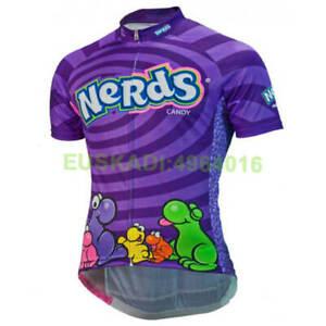 Summer Womens Purple Nerds Cycling Jersey Short Sleeve Road Bike