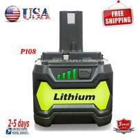 4.0Ah 18 VOLT P108 for 18V RYOBI ONE PLUS Lithium-Ion High Capacity Battery P104