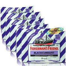 6x Fisherman's Friend Sugar Free Blackcurrant Menthol Lozenges Sweeteners 25g