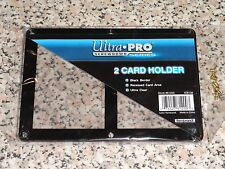 ULTRA PRO 2 CARD BLACK BORDER HOLDER ULTRA CLEAR SCREW DOWN
