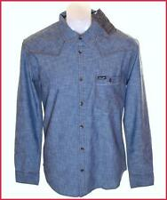 Bnwt Men's Authentic Wrangler Long Sleeve Shirt New Large Blue