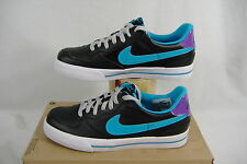 New Womens 10 NIKE Sweet Ace 83 Leather Black Blue Party Shoes $65 407992-005