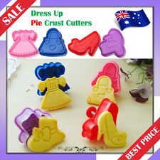 Dress Up Pie/Cookie/Biscuit/Cake Topper 3D Plunger Crust Cutters *Set of 4pcs