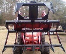 """NEW USA 66"""" TRACTOR GRAPPLE FORK ROOT RAKE BUCKET for John Deere compacts"""