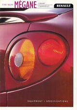 Renault Megane Coupe & Cabriolet Specification 1999 UK Market Brochure