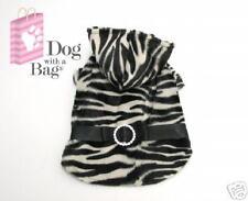 Luxury Zebra Faux Fur Chihuahua Yorkie Dog Coat Medium