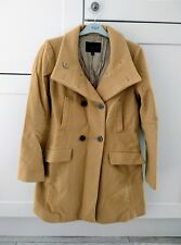 UNIQLO Women's Tan Brown Winter WOOL Trench Coat Jacket Size XS (UK 8)