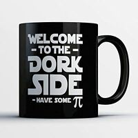 Nerd Coffee Mug - Welcome To The Dork Side - Funny 11 oz Black Ceramic Tea Cup -