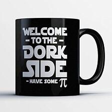 Nerd Coffee Mug - Welcome To The Dork Side - Funny 11 oz Black Ceramic Tea