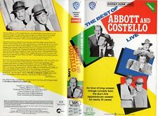 BEST OF ABBOTT & COSTELLO LIVE -VHS-PAL- NEW- Never played!- Original Oz release