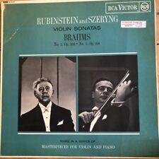 SB 6520 Brahms Violin Sonatas / Rubinstein / Szeryng GROOVED R/S
