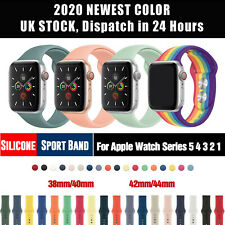 for Apple Watch iWatch Series 3 4 5 38/40/42/44mm Soft Solicone Sport Band Strap