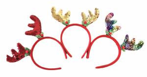 Rentier Haarreif Stirnband Weihnachten Haarschmuck Bling Kopfschmuck  Haardeko