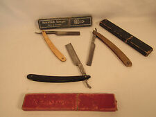 3 Vintage Straight Razors Solingen Germany Bengall & Sheffield